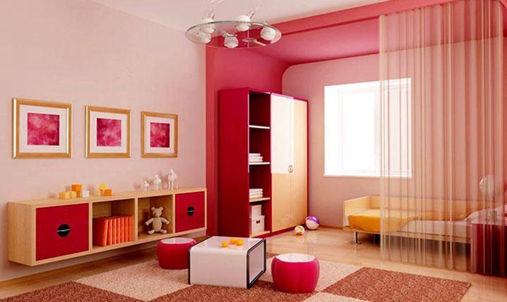 Chọn sơn nhà màu hồng