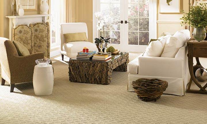 Chọn thảm trải nhà màu trắng