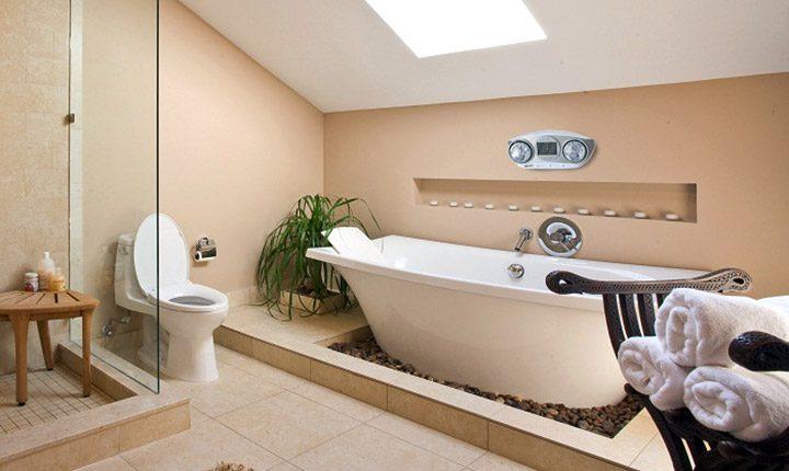 Dùng bồn cầu tròn trong phòng vệ sinh