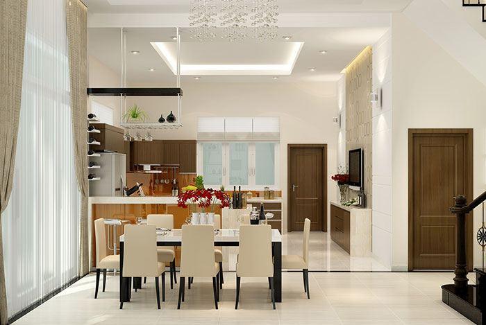 Phòng bếp thiết kế mở