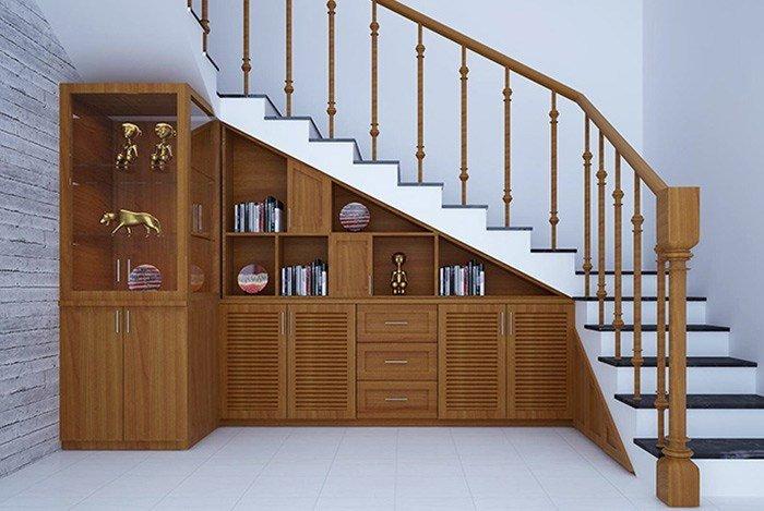 Không gian gầm cầu thang đầy tiện ích