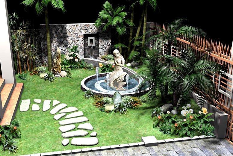 Cách trang trí cho sân vườn nhà đẹp nhất